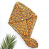 Miwaimao Gorro colgante de terciopelo coral de microfibra de moda de leopardo estilo creativo rizos para el cabello largo, grueso y grueso.