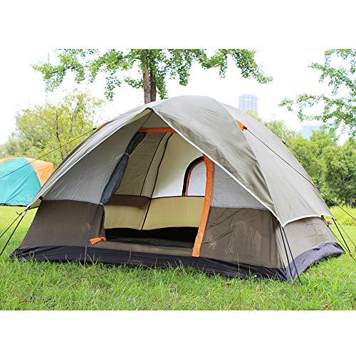 Générique FYTVHVB Tente de Camping à Double Couche imperméable et Anti-UV pour 3 ou 4 Personnes