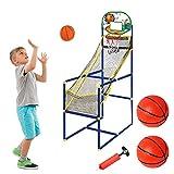 BTSEURY Juego de arcada de baloncesto mini aro de baloncesto y soporte de la bomba de aire juegos de deportes para niños interior al aire libre