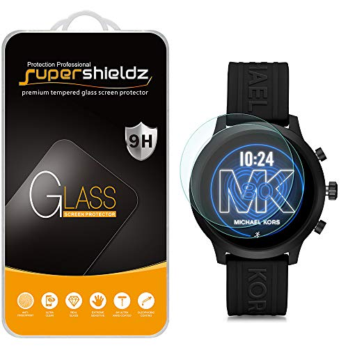 (2 Pack) Supershieldz for Michael Kors Access Gen 4 MKGO Smartwatch Tempered Glass Screen Protector, (MKT5070, MKT5071, MKT5072, MKT5073, MKT5094) Anti Scratch, Bubble Free