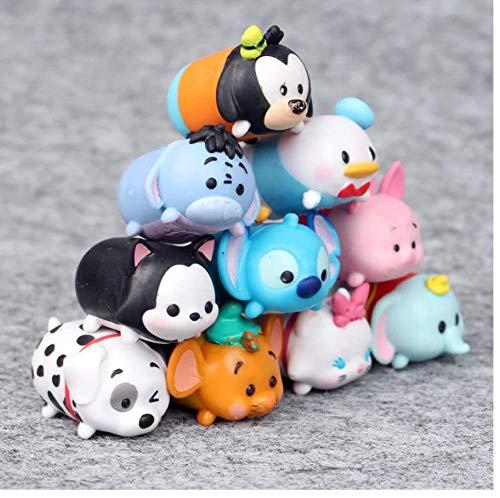 zdfgv 10 unids/Lote Disney Kawaii Tsum Tsum Donald Mickey Duck Elf muñeca baño Figura de acción Juguetes para niños Regalos 4cm