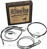 BURLY B30-1034 Cable/Brake Line Kit for 14' Height Apehanger Handlebars