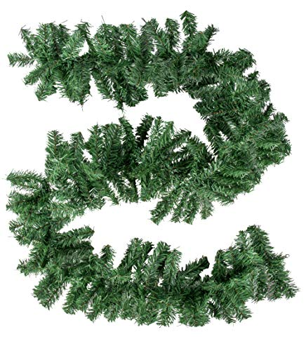 Juvale 8.8-Foot Christmas Garland - 3-Pack Holiday Artificial Pine Decor, Soft Unlit Plain Green Decorative Garland, Natural Color, Perfect for DIY Wreath, Mantle Decoration, 9.5 x 106 Inches Each