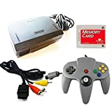 Nintendo 64 Replacement Cable Kit with Controller, AV Cable, Power Adapter, and Memory Card