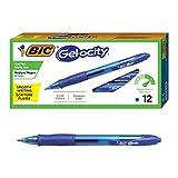 BIC RLC11-BLUE Gel-ocity Retractable Gel Pen, Medium Point (0.7 mm), Blue, 12-Count