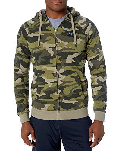 Under Armour Herren Rival Fleece Camo Full Zip Hoodie, Herren, Reißverschluss, Sweatshirt, Rival Fleece Camo Full Zip Hoodie, Outpost Green (331)/Schwarz, 3X-Large