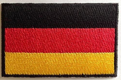 b2see Aufnäher für Jacken Bügelbild Aufbügler Iron on Patches Applikation Aufnäher Deutschland 8 cm