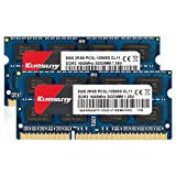Kuesuny 16GB Kit (2x8GB) PC3L 12800s Sodimm DDR3 / DDR3L 1600MHz CL11 PC3-12800s 1.35V/1.5V 204Pin Non-ECC Unbuffered SODIMM Laptop Memory RAM for Mac Intel