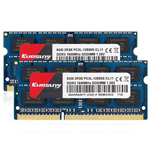 Kuesuny 16GB Kit (2x8GB) PC3L 12800s Sodimm DDR3 / DDR3L 160