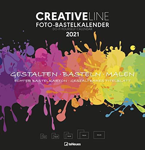 Foto-Bastelkalender groß schwarz 2021 - Kreativ-Kalender - DIY-Kalender - Kalender-zum-basteln - 32x33 - datiert