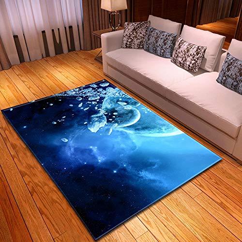 BFSOC Alfombra Rectángulo Antideslizante Alfombra Luna Lujosa Suave Lana Artificial Alfombra para Salón Dormitorio Habitación de Los Niños 200X300 cm