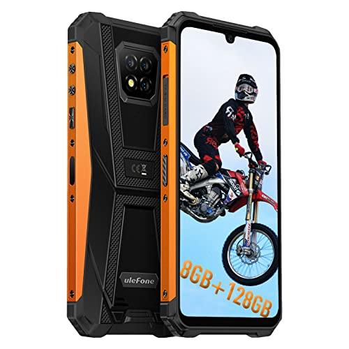 Ulefone Armor 8 Pro, 128Go + 8Go Telephone Portable Débloqué, Android 11, 5580mAh, Telephone Pas Cher, Helio P60 Octa-Core, 16MP Arrière Caméra, HD 6,1 Pouces, Smartphone Incassable 4G, NFC Type-C