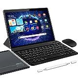 5G Tablette Tactile Android 10.0 WiFi Tablettes 10 Pouces, 4Go RAM + 64/SD 128Go ROM, Certification Google GSM Tablet WiFi - Quad Core 1.6GHz Tablette PC avec Clavier et Souris (Gris)