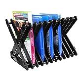 Estantería de almacenamiento de discos, soporte de torre para juegos compatible con PS5/PS4/PS4slim/PS3/PS2/XBOX ONE S/XBOX360 Game Discs Soporte plegable de almacenamiento portátil para DVD, CD,