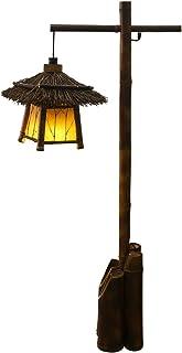 CLHXZ Lampadaire Bambou Style Antique Huttes Lampadaire Salon Chambre Etude Salon De Thé Lampadaire