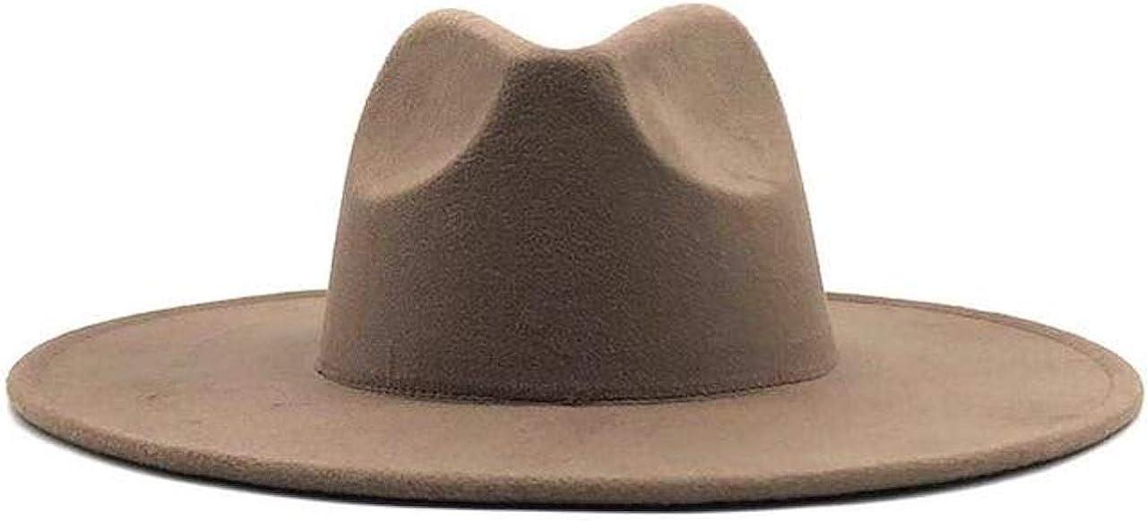 Brown Classic Wide Brim Fedora Hat