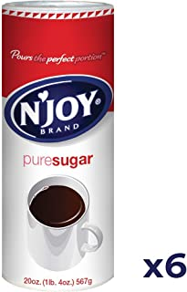 N'Joy Sugar Canisters, 20 Ounce, (Pack of 6)