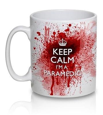 Keep Calm I'm A Paramedic - bloody Tea Cup Coffee Mug by uglymug