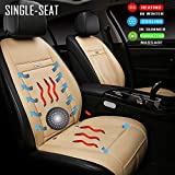 Fochutech Heated Car Seat Covers Cooling Car Seat Cushion with Massage Seat Front Seat Driver Seat Cooler Warmer Heater PU Leather Car Seat Protector Non Slip, Fits All Seasons