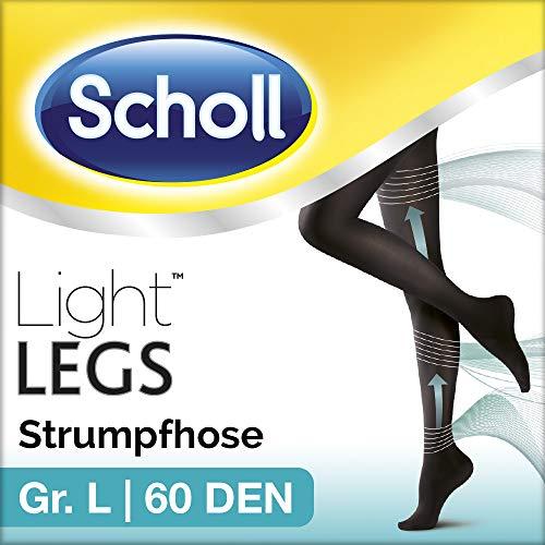 Scholl Light Legs Strumpfhose – Damen-Strumpfhose mit Kompressionsfunktion in L – Blickdichte, schwarze Stützstrumpfhose – 1 Paar mit 60 DEN