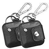 (2 Pack) Fintie Case for Tile Mate/Tile Pro/Tile Sport/Tile Style/Cube Pro Key Finder, Vegan Leather Protective Cover for 2020 2018 and All Generations Tile