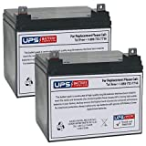 UPG UB12350 (Group U1) Replacement Battery, 12V 35Ah (2 Pack)