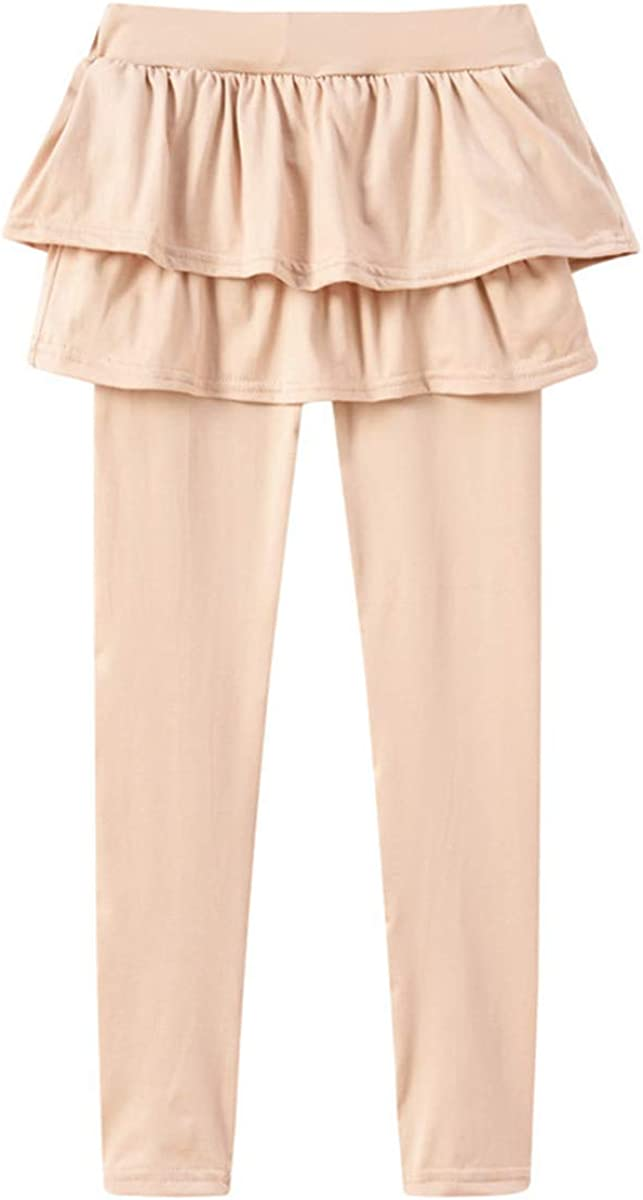 Girls Leggings Stretchy Kids Pant Ankle Length Culotte Pure Color Sweatpants for Spring