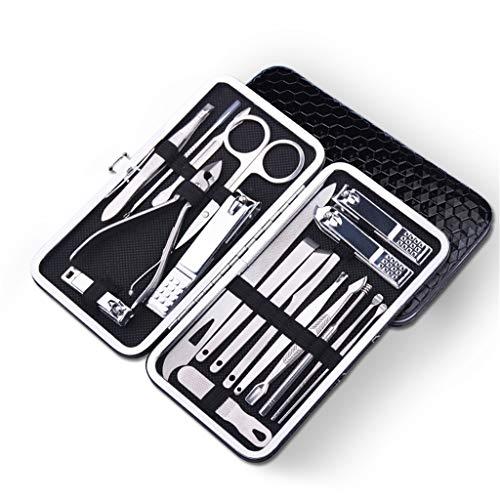 Precision Cuticle Nipper Y Under Nail Cleaner Kit para Salón O Uso Doméstico,Manicura De Uñas Kit De Tijeras De Corte para Uñas De Trabajo Pesado Set De Cortaúñas