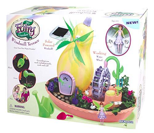 My Fairy Garden Windmill Terrace Solar Power Playset -- Grow Your Own Magical Garden!