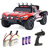 4x4 HIGH-SPEED REMOTE CONTROL CAR: This 4 wheel drive high-speed RC racing car is equipped with high quality and durable components to bring you a fantastic driving experience. The speed is up to 40 km/h powered by 380 high-speed motors. It is the be...