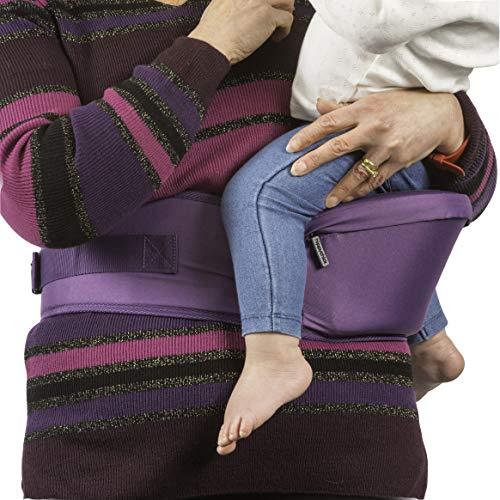 Hippychick HCHIP0008 - Asiento de cadera portabebés, color morado