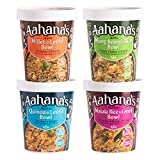 BRAND NEW PACKAGING AND SAME GREAT TASTE -INCLUDES: 1 Masala Rice and Lentil Bowl, 1 Sprouted Mung Beans and Rice Bowl, 1 Quinoa and Sprouted Lentil Bowl, Sprouted Millet and Lentil Bowl. These Indian healthy meals ready to eat are created with a glo...