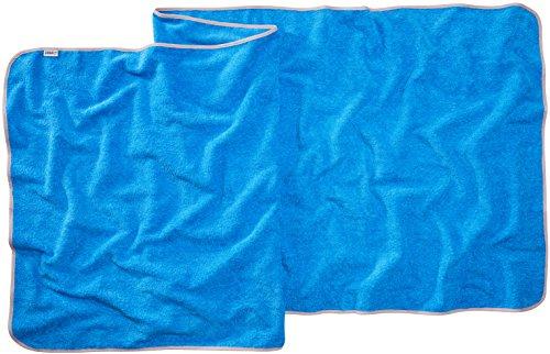 Sowel® Toalla de Playa Grande, Sauna, 100% Algodón Orgánico, 220 x 80 cm, Azul /Gris