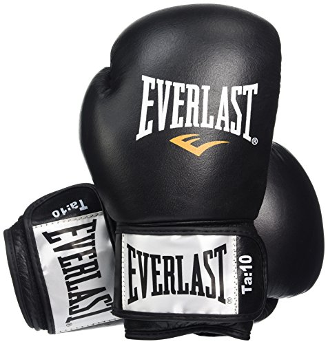 Everlast Erwachsene Boxen - Punchinghandschuhe 1100 Leather Boxing Glove Fighter, Black/red, 12 oz