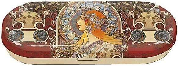 Fridolin brillenkoker Art Nouveau-Zodiak van metaal, meerkleurig, 16 x 6,6 x 2,8 cm