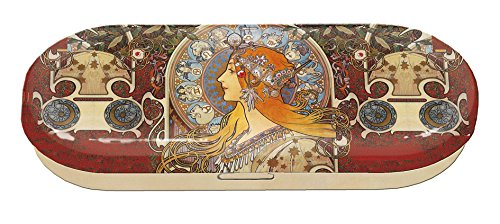Fridolin Brillenetui Art Nouveau-Zodiak aus Metall, Mehrfarbig, 16x6.6x2.8 cm