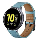Aottom [20MM] Samsung Gear S2 Classic Leather Bands Replacement Band Wrist Band Metal Buckle Bracelet Wristband for Samsung Gear Sport / S2 Classic / Moto 360 2nd Gen (Mens 42mm 2015 Version) - Blue