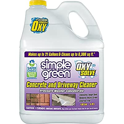 Simple Green Oxy Solve Concrete and Driveway Pressure Washer Cleaner - Concentrate 1 Gal