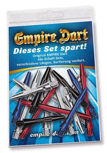 Test-Set 2 : 6 Set Empire® Alu-Schäfte glatt, in 3 Längen, farblich Sortiert