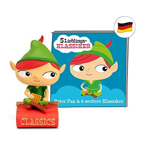 tonies Hörfiguren für Toniebox - 5 Lieblings-Klassiker - Peter Pan und 4 weitere Klassiker - ca. 61 Min. - Ab 3 Jahre -DEUTSCH