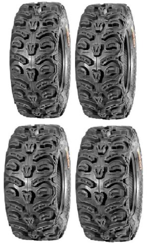 Full set of Kenda Bear Claw HTR Radial (8ply) 27x9-12 and 27x11-12 ATV Tires (4)