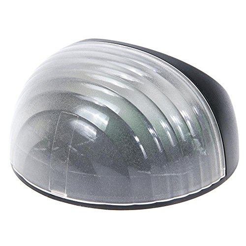 Iluminación de camino, luz solar para jardín, lámpara de césped, sensor de 6 LED, lámpara de valla de pared (blanco)