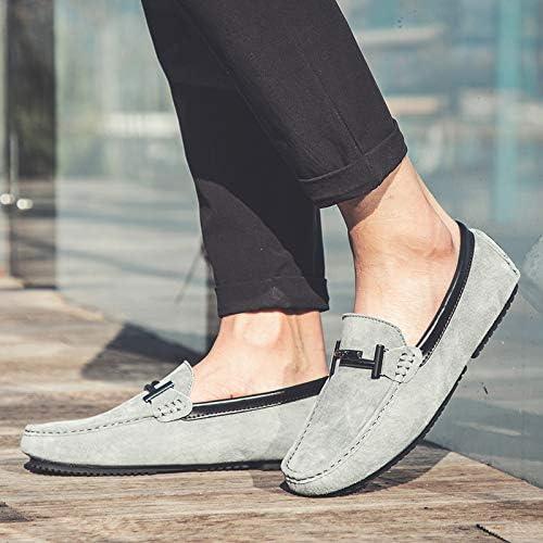 LOVDRAM Chaussures en Cuir pour Hommes New Affaires Décontracté Peas Chaussures Chaussures De Conduite Sauvage en Cuir rue rue Chaussures pour Hommes