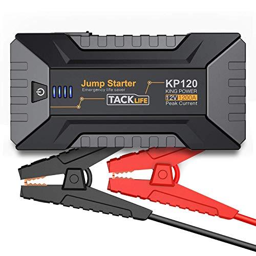 classement un comparer Batterie de voiture Booster TACKLIFE 1200A – 12 V (jusqu'à 8 litres d'essence, 6 litres de diesel…) pour démarrer la voiture