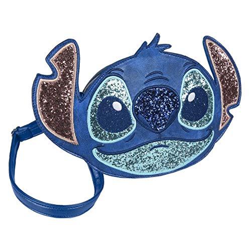 ARTESANIA CERDA Bolso Bandolera 3D Disney Stitch, Unisex Adultos, Azul (Azul), 5x18x26 cm (W x H x L)