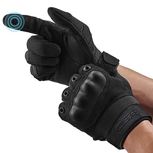 [neue Version] FREETOO Motorradhandschuhe Herren Touchscreen Vollfinger Taktische Handschuhe für Paintball Airsoft Militär, Motocross-Handschuhe Outdoor-Sport Klettern Camping Jagd Radfahren