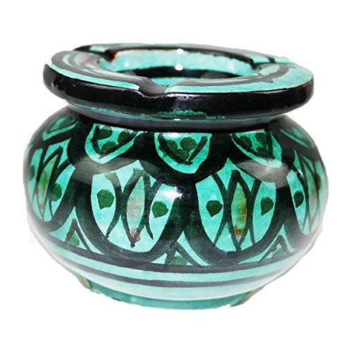 Simandra Marokkanischer Sturmaschenbecher Aschenbecher Keramik Windascher Ascher Orient Deko Color Grün