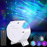 SUNGYIN LED Sternenlicht Projektor Aurora Sternenhimmel Licht Projektor Lamp Rotierende Sterne Nachtlicht Licht Mehrfarben Farbwechsel Musikspieler mit Bluetooth & Timer