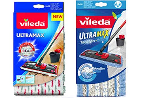 -G4Y- Vileda Ultramax (G4Y_ Vileda Ultramax Microfibre passt zu Ultramat + Vileda Ultarmax Wischbezug extra feucht passt zu Ultramat)