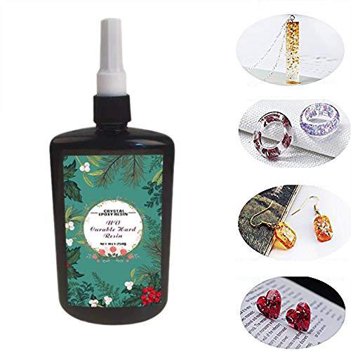 250 ML Kristall Epoxidharz UV Kleber Nagelkunstwerkzeuge Für DIY Professionelle Handwerk Schmuck Ohrringe Halskette Armband Nail art Zubehör